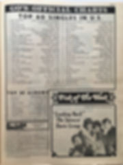 jimi hendrix newspaper/go may 17 1968/top 20 albums:are you experienced N°17 & axis bold as love N°19