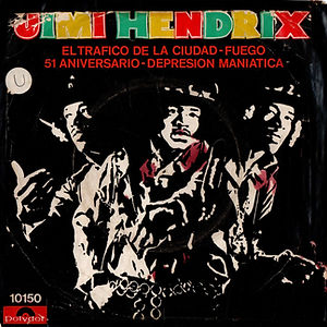 jimi hendrix collector EP/vinyls 45r/ EP crrosstown traffic polydor argentina 1969