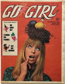 jimi hendrix magazine/go girl 6/4/1968