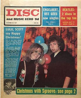 jimi hendrix newspaper/disc music echo 23/12/67