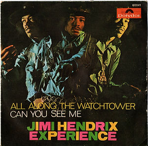jimi hendrix collector singles 45t /all along the watchtower/can you see me spanish 1968