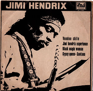 jim hendrix collector vinyls singles/voodoo chile/black magic woman/taiwan 1971 zani records