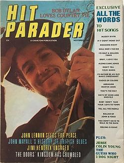 jimi endrix magaine 1969/ hit parader november 1969
