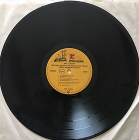 jimi hendrix album vinyls/side 1/ rainbow bridge 1971 germany
