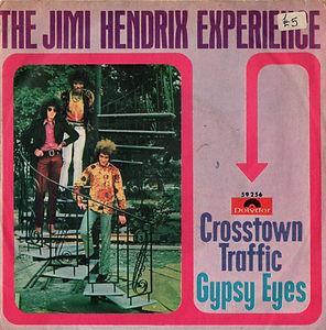 jimi hendrix collector singles vinyls 45t/crosstown traffic polydor italy 1968