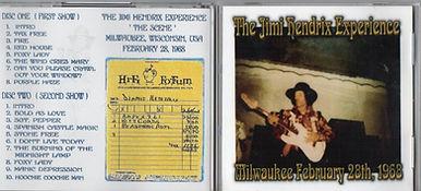 jimi hendrix cds bootlegs/2cds milwaukee february 28 1968
