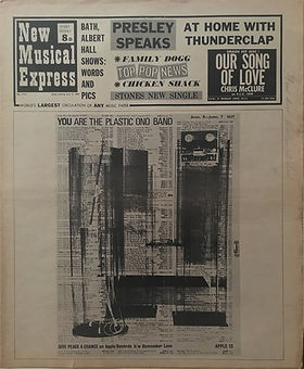 jimi hendrix newspapers 1969/new musical express july 5 1969