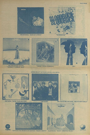 jimi hendrix newspapers 1970 / the great speckled bird  july 6, 1970