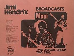 jimi hendrix bootlegs vinyls 1970 / tmoq :  broadcast / maui hawii color