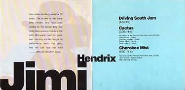 jim hendrix bootlegs cd 1969/ the mc laughlin sessions record plant nyc 1969