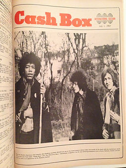 jimi hendrix rotily newspapers/ cash box 1/7/67