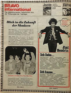 jimi hendrix collector magazine/bravo N°49/   27/11/67