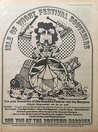 jimi hendrix newspaper 1970 / august 22, 1970 /evening standard  full programme  isle of wight festival