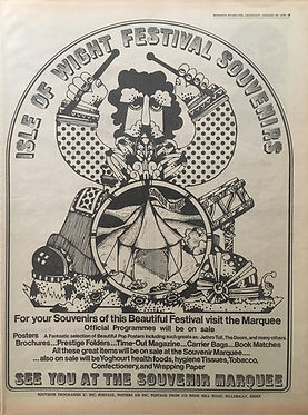 jimi hendrix newspaper 1970 / august 22, 1970 /evening standard  full programme  isle of wight festival