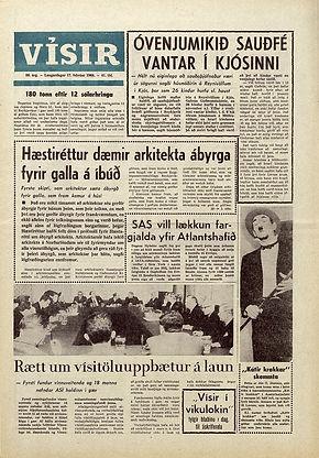 jimi hendrix newspaper 1968 /  visir 17/2/68