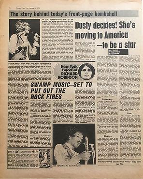 jimi hendrix newspapers 1970 /disc and music echo jan. 10, 1970