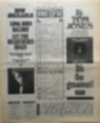 jimi hendrix newspaper/top15 lps axis bold as love N°8/NEW MUSICAL EXPRES 6/1/68