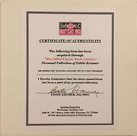 jimi hendrix collector vinyls/lps/electric ladyland test pressing 1997/eddie kramer collection