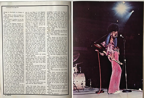 jimi hendrix magazine 1969/circus hullabaloo march 1969