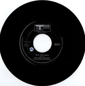jimi hendrix collector rotily singles vinyls 45t/crosstown traffic (cross town) traffic track record england 1968