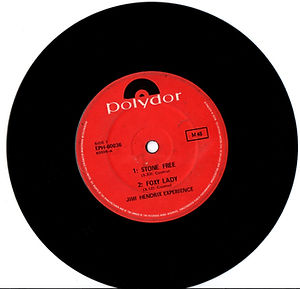 jimi hendrix collector  singles vinyl/australia EP : stone free