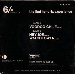 jimi hendrix collector singles/maxi single/vinyls/voodoo chile/hey joe/watchtower/brazil/ 1971