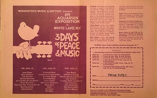 jimi hendrix meorabilia 1969/kaleidoscope august 1,  1969