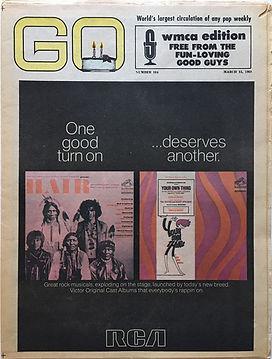 jimi hendrix newspaper/go march 15 1968