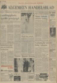 jimi hendrix newspaper 1969/algemeen handelsblad july 24, 1969