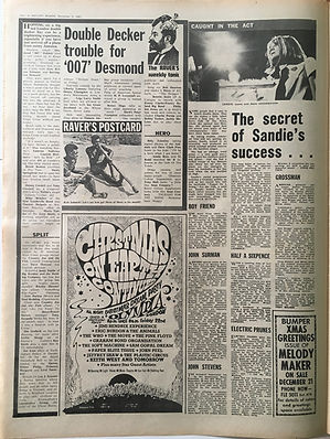 jimi hendrix newspaper collector/chrstmas on earth continue meldy maker 9/12/1967