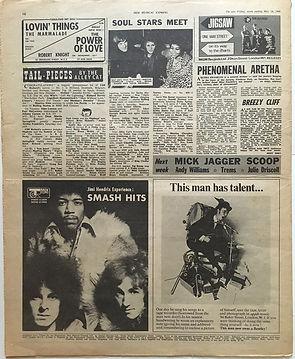 jimi hendrix newspaper/new musical express may 18 1968