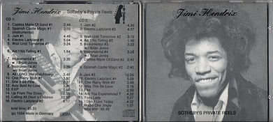 jimi hendrix collector cd bootlegs/2cd jimi hendrix the sotheby's private reels/1994