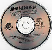jimi hendrix bootlegs cds/live at olympia theatre paris 29 january 1968