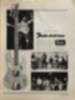 jimi hendrix magazine 1968/hullabaloo octobe 1968 : fender ad