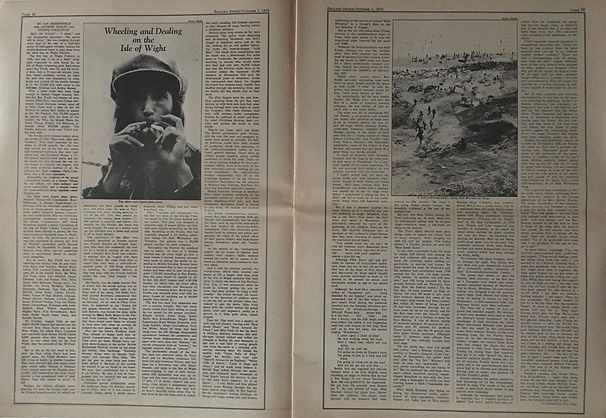 jimi hendrix newspapers 1970 / rolling stone october 1,1970 / isle of wight