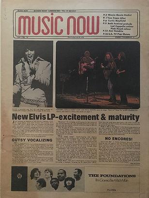 jimi hendrix newspaper 1970 / music now june 20, 1970
