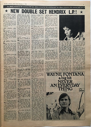 jimi hendrix newspaper 1968/review electric ladyland november 9 1968