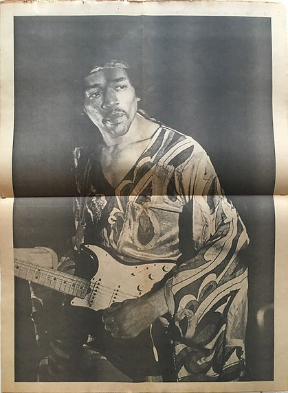 jimi hendrix newspapers 1970 / changes november 1,  1970 / poster
