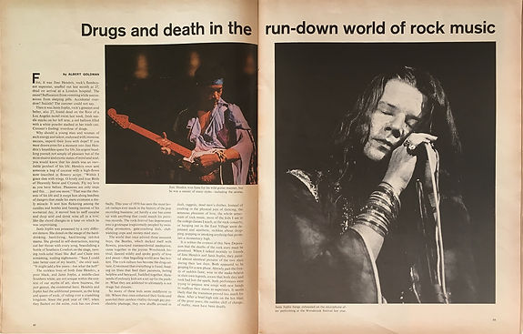 jimi hendrix magazines 1970 death/  life : october 16,1970