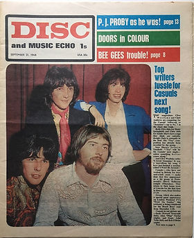 jim hendrix newspaper 1968/disc music echo 21/11/68