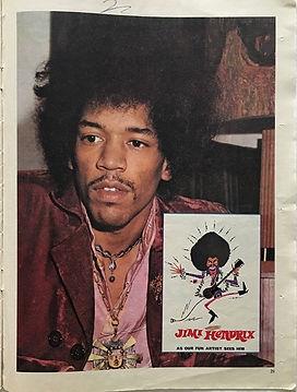 jimi hendrx magazine/go girl 6/4/1968