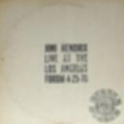 jimi hendrix bootlegs vinyls albums 1970 / jimi hendrix live at the los angeles forum 4-25-70 side 3