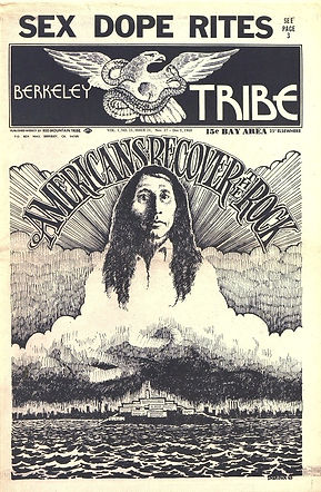 jimi hedrix newspapes 1969/berkeley tribe november 27, 1969
