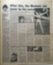 jimi hendrix newspaper 1968/disc music echo 16/11/68
