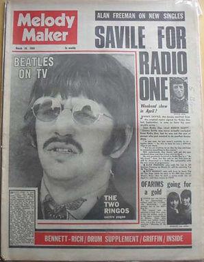 jimi hendrix newspaper /the black elvis/back to school for jimi/ melody maker 16/3/1968