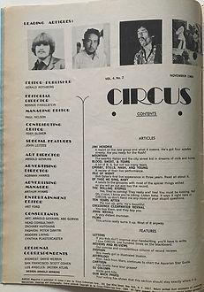 jimi hendrix magazines 1969 / circus november 1969
