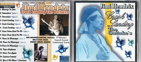 jimi hendrix bootlegs cds 1969/crash landing the outtakes