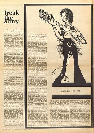 jimi hendrix newspapers 1970 / good times : September 25, 1970