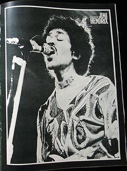 jimi hendrix collector magazines 1970/ popfoto november 1970