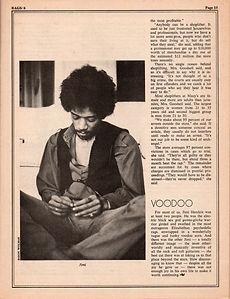 jimi hendrix magazines 1970 death/  rags 1970  / voodoo